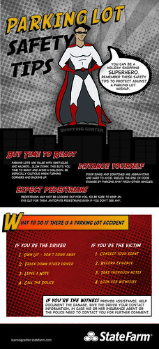 Holiday Shopping Superhero - Parking Lot Safety Infographic
