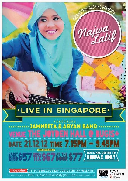 Persembahan Eksklusif Najwa Latif di The Joyden Hall Singapura