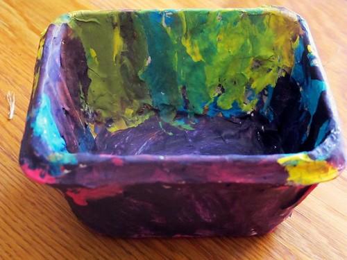 M's papier mache bowl