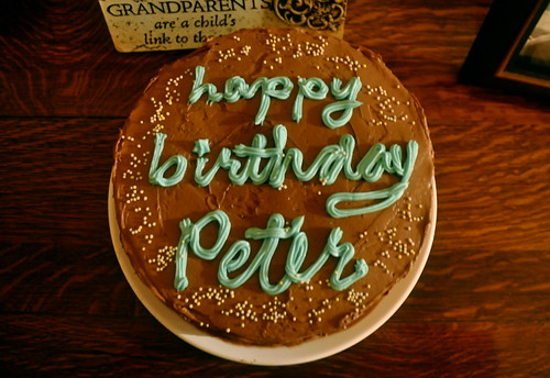 Happy Birthday Peter First Time Making A Birthday Cake