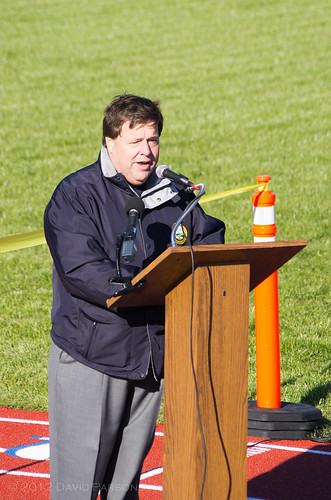 Faxon Field - Mayor Koch opens the field