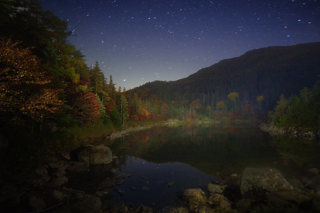 Autumn Lake Starry night