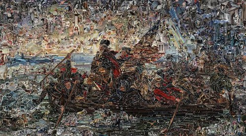 Vik Muniz, Washington Crossing the Delaware, after Emanuel Leutze, 2012