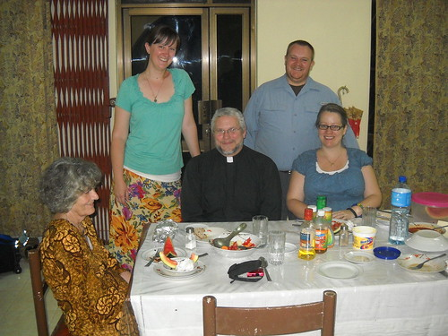 With Deacon James Nicholas, Felice Stewart, and Maria Roeber in Bukoba