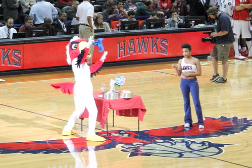 Harry the Hawk doing some Magic