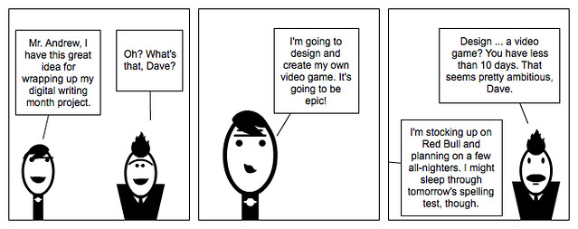 Digital Writing Comics game1
