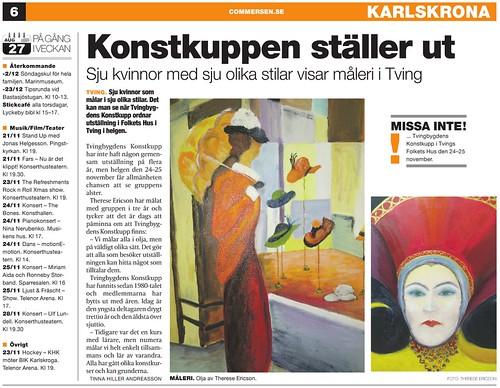2012-11-21 Commersen, Artikel, Konstkuppen ställer ut