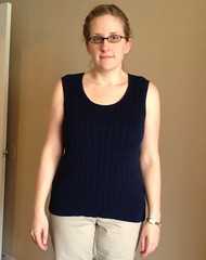 Navy Vest to Skirt - Before