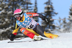Ben Thomsen during the first downhill training run in Lake Louise (Nov. 2012)