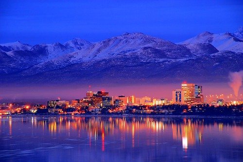 Alaska  Anchorage Downtown Skyline