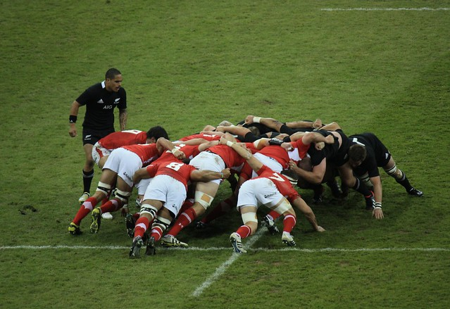 Wales v New Zealand Scrum