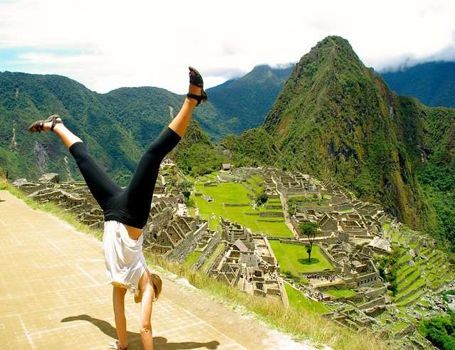 cartwheel at machu picchu