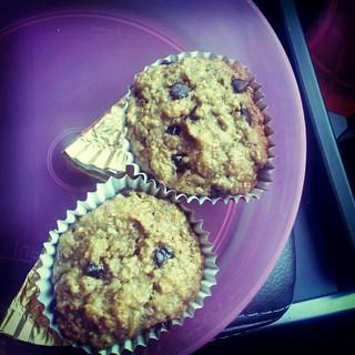 banana wholemeal muffins