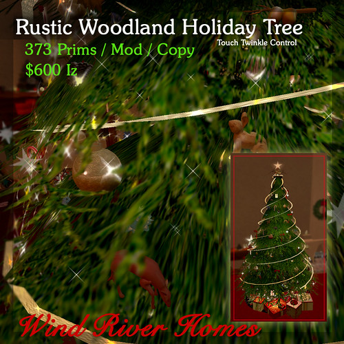 Wind River Holiday Tree 2012 by Teal Freenote