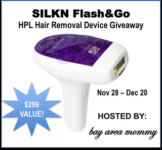 Silkn Flash&Go HPL Hair Removal Device Giveaway