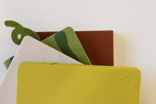 Stack of Journals - Bound Vegan Leather Comaprison
