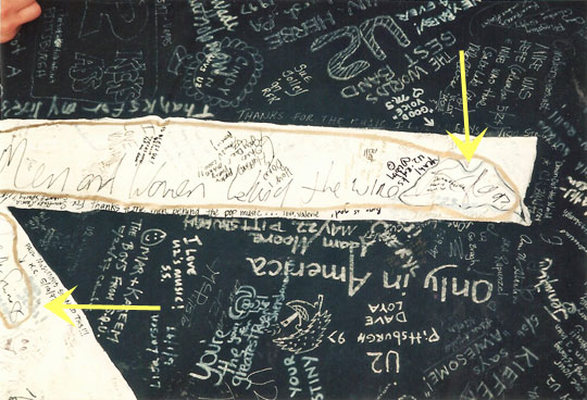 Wire Banner signed by Bono and Paul McGuinness