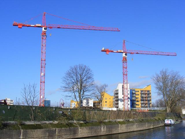 Tower Crane School : Tower cranes coventry cross east development site london