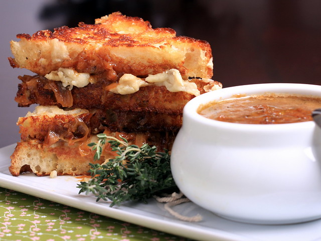 Vegan French Onion Soup Sandwich