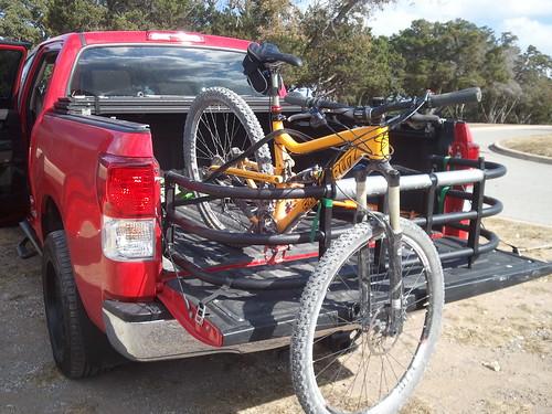 bike in truck