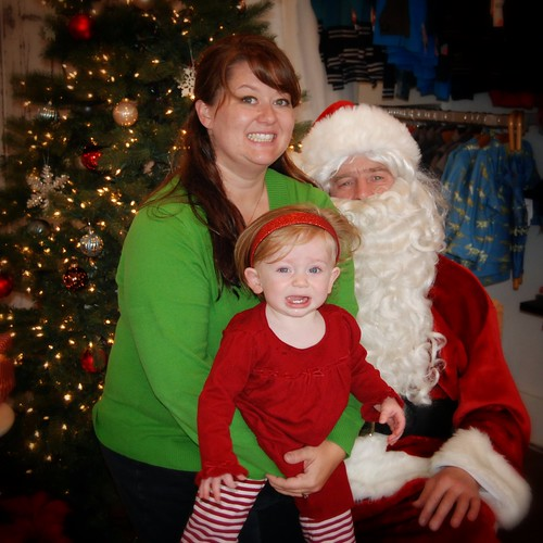 Momma and Molly with Santa