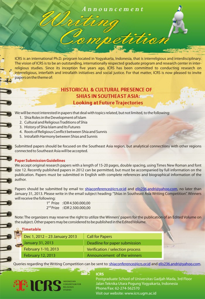 Indonesian Consortium for Religious Studies .:. Writing Competition: Historical and Cultural