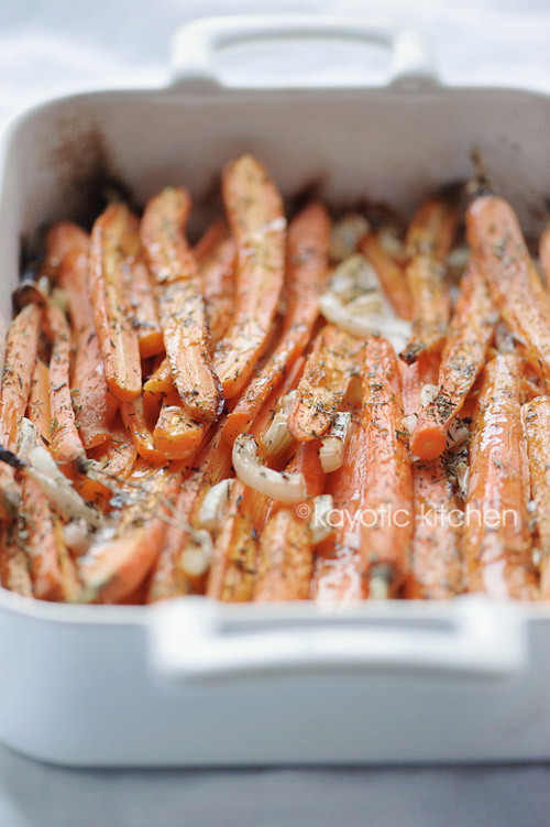 Simple Oven-Baked Carrots