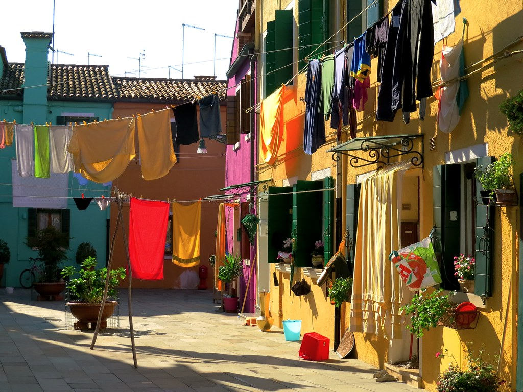 Burano colours and clotheslines