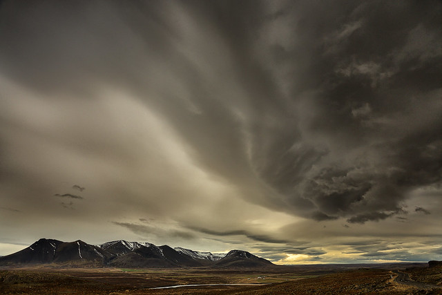 Impending storm over Iceland