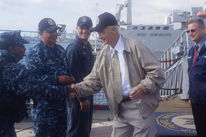 David Mozuch, 91, retired Chief Machinist Mate and survivor of the attack on Pearl Harbor, Hawaii onboard USS Pearl Harbor