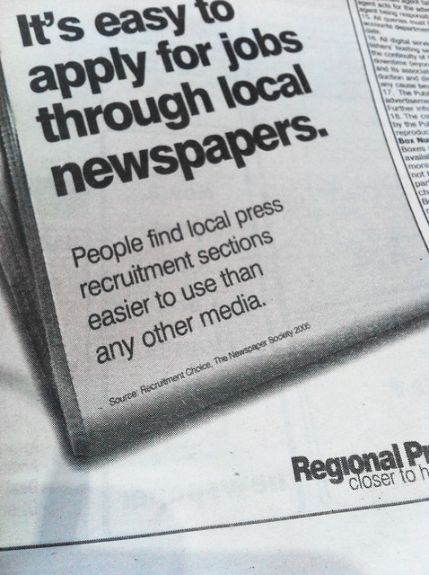 Source: Recruitment Choice, The Newspaper Society. 2005