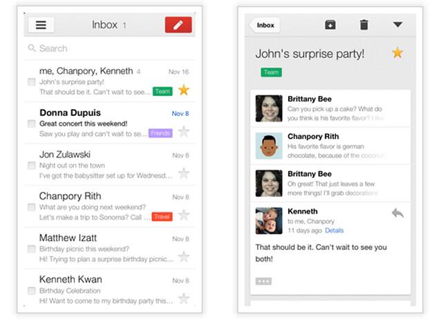 - Gmail se actualiza con un nuevo diseño y más funciones a iOS