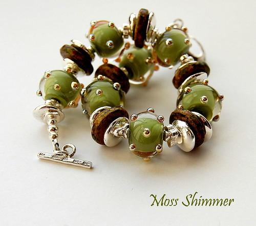 Moss Shimmer Bracelet by gemwaithnia