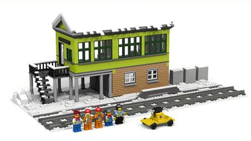 Winter Village Signal Box render
