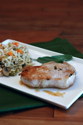 Sage-Brined Pork Chops with Brown Sugar Glaze – Elly Says Opa!