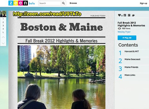 Zeen | Boston & Maine: Fall Break 2012 Highlights & Memories