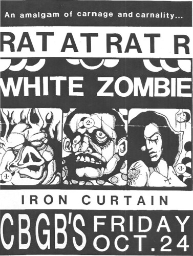 10/24/86 White Zombie/ Iron Curtain @ CBGB, NYC, NY