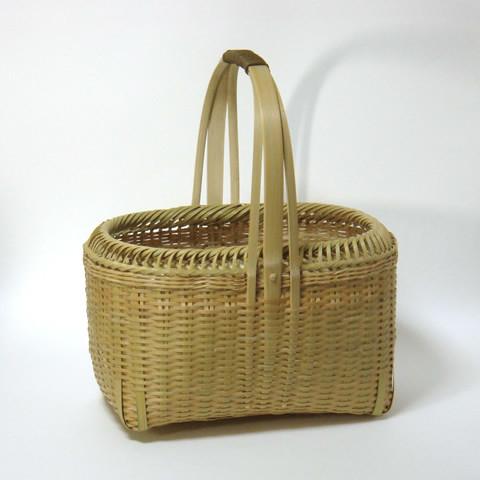 みがき竹かご/口絞り編み3本手
