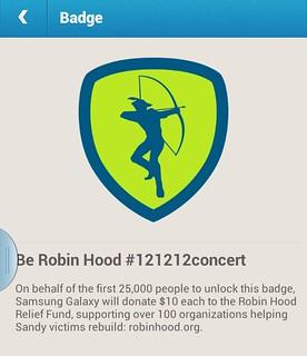 Be Robin Hood Badge