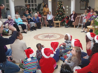 Furze children's choir perform for local residents