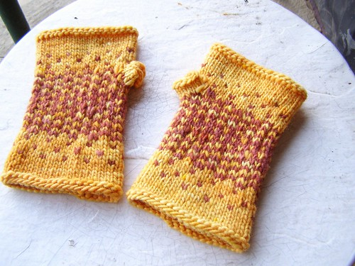 reflection fingerless mitts
