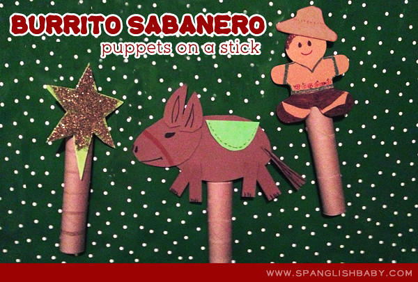 burrito sabanero puppets on a stick craft holiday