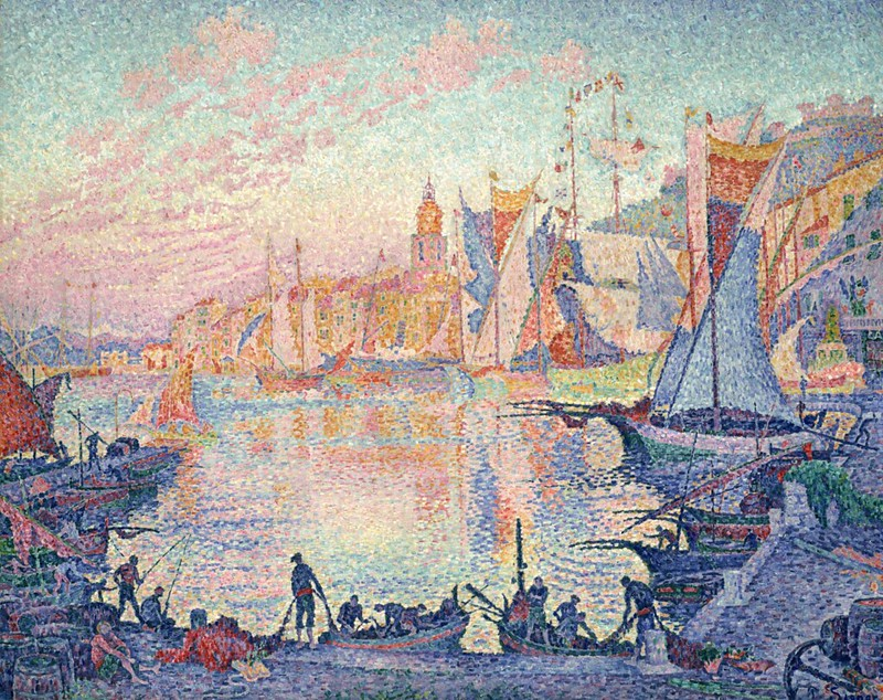 Photo:[ S ] Paul Signac - The Port of Saint-Tropez (1901) By:Cea.