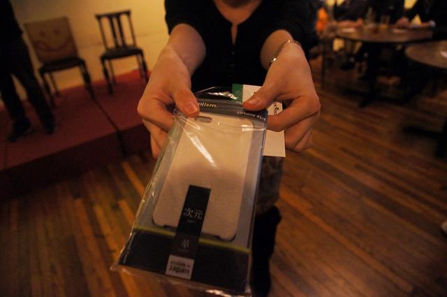 iPhone4S用ケースもらった