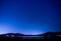 starry hike to a lake