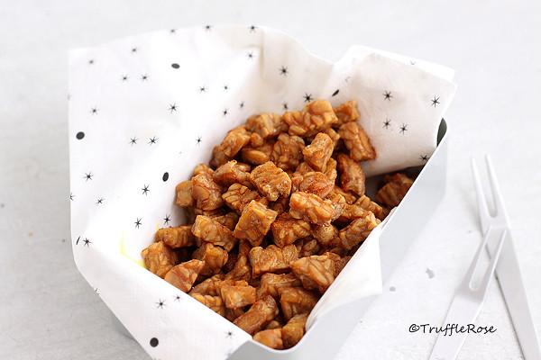 鹽酥天貝,蔬食版的雞米花-20160829