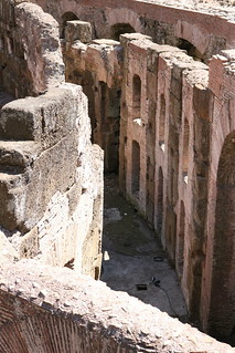 Image of Colosseum near Roma Capitale. colosseum rome roma italy italia history tunnel tunnels passages underground