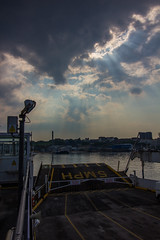 on the ferry: almost home