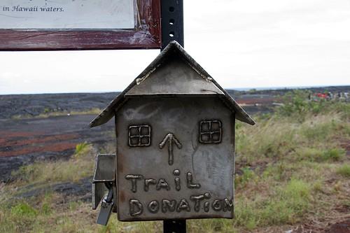 Trail box for trail to black sand beach