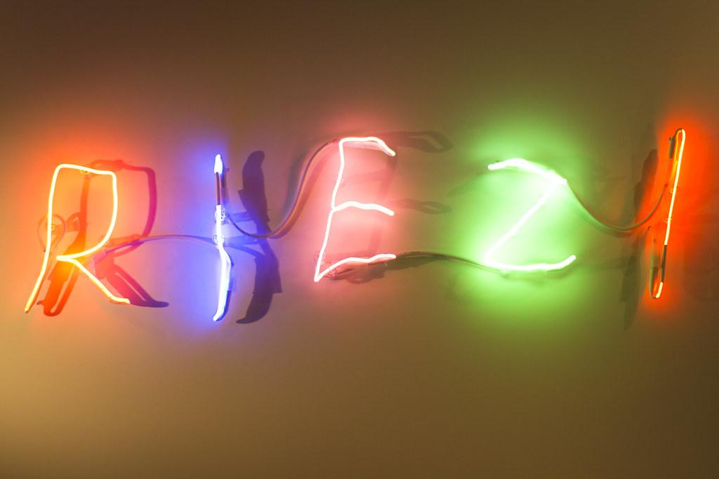"""""""riez"""" - neon sign"""